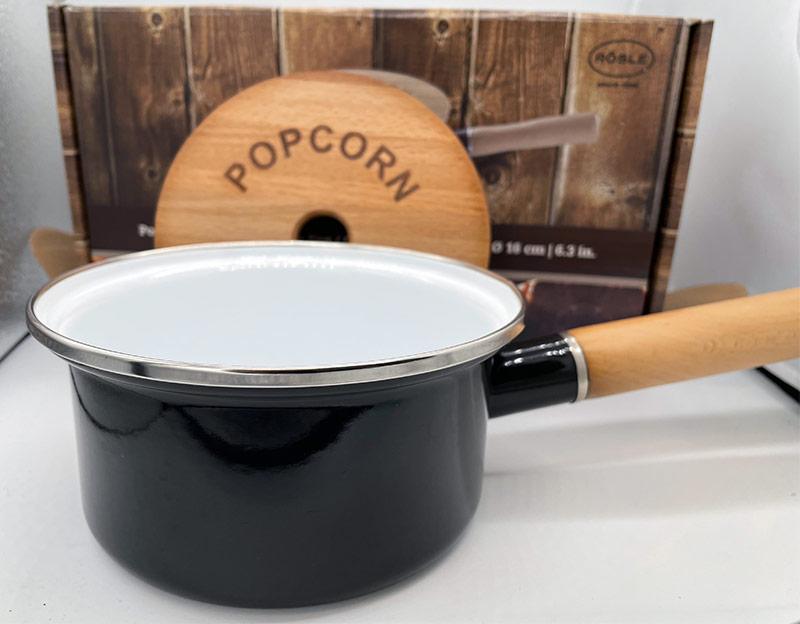 Vorführer: Rösle Popcorn-Pfanne 16 cm, emailliert Kopie